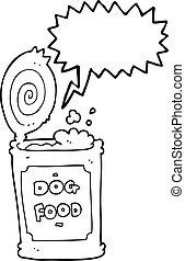speech bubble cartoon dog food - freehand drawn speech...