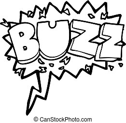 speech bubble cartoon buzz symbol - freehand drawn speech...