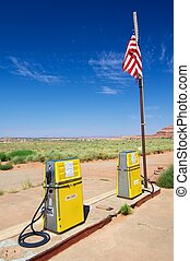 fuel station abandoned in Canyonlands National Park