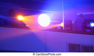 Concert light in night club - movable light concert in the...