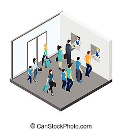 Underground People Isometric Illustration - Underground...