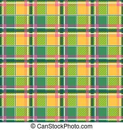 Yellow Green Pink Chessboard Background