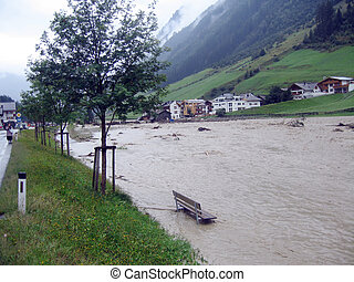 Floodwaters VI - Some impressions of the flood in Ischgl...
