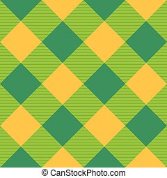 Yellow Green Diamond Chessboard Background