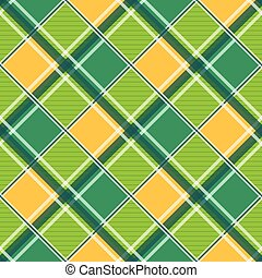 Yellow Green White Diamond Chessboard Background