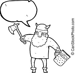 speech bubble cartoon drunk viking