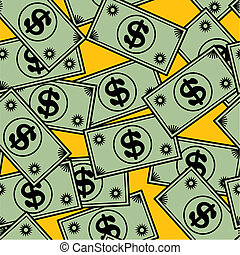 Abstract seamless pattern with dollar. Background for your...