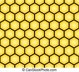 Abstract seamless pattern of honeycomb form Background for...