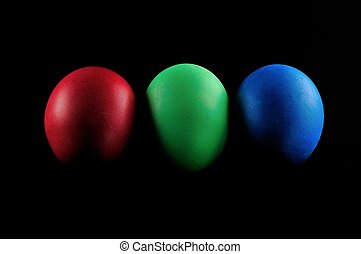 red green blue - red, green, blue on black background