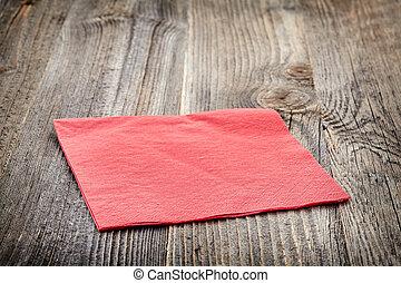 papel, vermelho, guardanapo