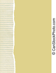 Ripped lined paper background - Ripped old lined paper and...