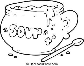 Photos et Images de Dessin bol soupe noir blanc. 72 ...
