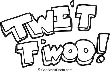 black and white cartoon twit two owl call text