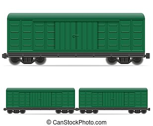 railway carriage train vector illustration isolated on white...