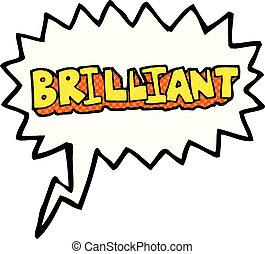 brilliant comic book speech bubble cartoon word