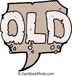 comic book speech bubble cartoon word old - freehand drawn...