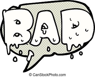 comic book speech bubble cartoon word bad
