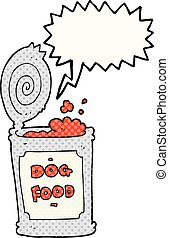 comic book speech bubble cartoon dog food - freehand drawn...