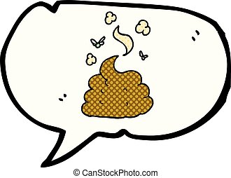 comic book speech bubble cartoon gross poop - freehand drawn...