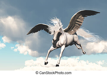 PEGASUS - The creature of ancient fable and myth, a...