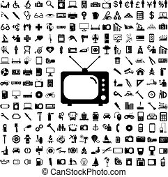 Collection flat icons. Eectronic devices symbols. Vector