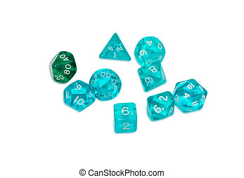 Specialized polyhedral dice for role-playing games