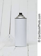 Air pressured can blank isolated on a white background. -...