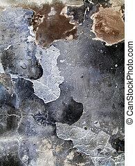 crannied plaster - close-up of old crannied plaster