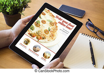 desktop tablet ordering fast food