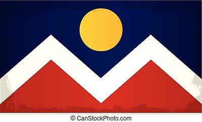 Denver City Flag - The flag as adopted by the city of Denver