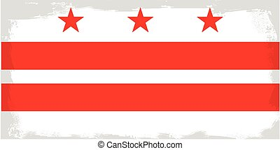 Washington DC City Flag - The flag as adopted by the city of...