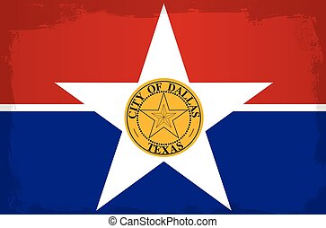 Dallas City Flag - The flag as adopted by the city of Dallas
