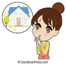 young housewife who yearn for a solitary house