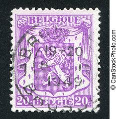 Coat of Arms - BELGIUM - CIRCA 1935: stamp printed by...