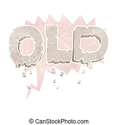 retro speech bubble cartoon word old - freehand drawn retro...