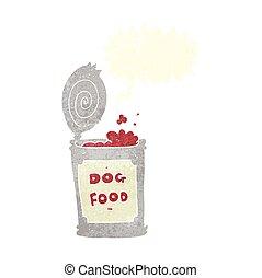 retro speech bubble cartoon dog food - freehand drawn retro...