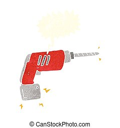 cartoon power drill
