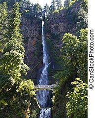 Multnomah Falls, Oregon - Multnomah falls in the state of...