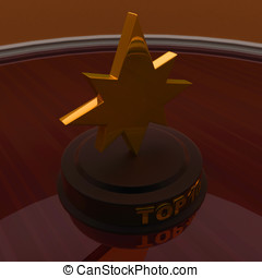 3d golden star trophy , top 10 concept -3d rendering - 3d...