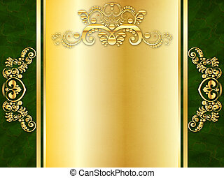 St Patricks Day Invitation - Invitation card with golden...