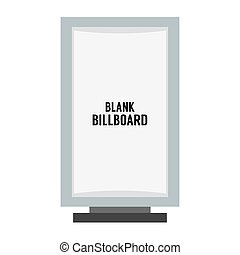 Single Blank Advertising Billboard.