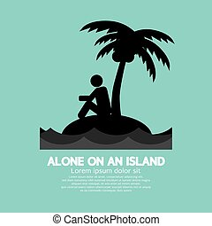 Alone on an Island Black Symbol - Alone on an Island Black...