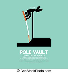 Pole Vault Athletes Graphic Symbol - Pole Vault Athletes...