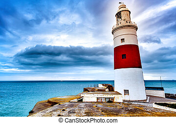 Trinity Lighthouse in Gibraltar - a view of the Trinity...