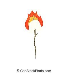 retro cartoon toasted marshmallow - freehand retro cartoon...