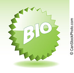 3D vector star elements with word BIO for marketing, promotion, advertisement.