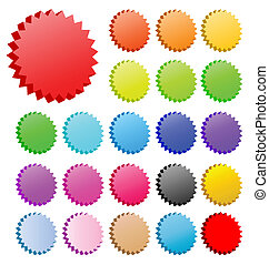 3D vector star badges collection. Perfect for icons or text.