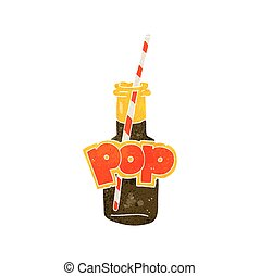 retro cartoon fizzy drink bottle - freehand retro cartoon...