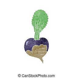 retro cartoon beetroot - freehand retro cartoon beetroot