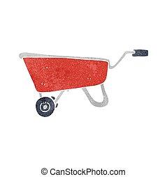 retro cartoon wheelbarrow - freehand retro cartoon...